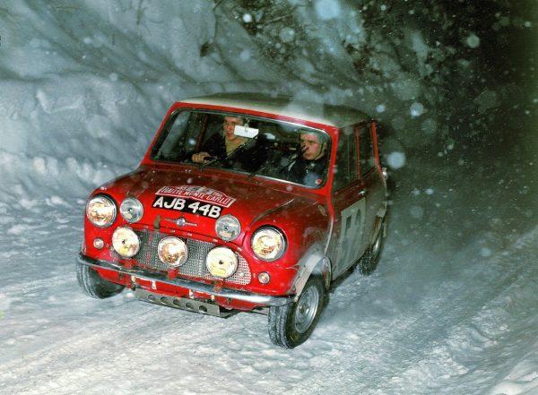Mini Cooper S winning the Rallye Monte Carlo the second time