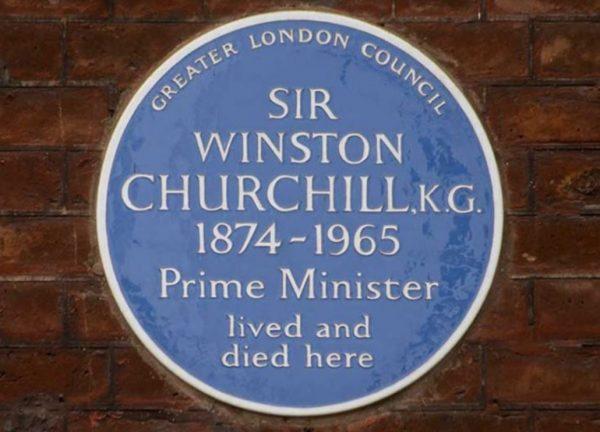 Churchill Blue Plaque