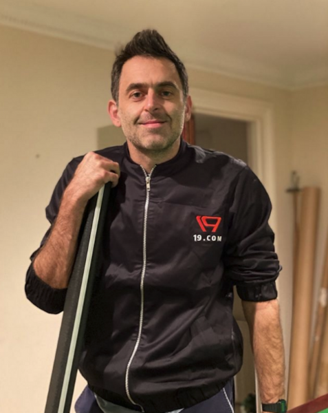 Ronnie O'Sullivan smiles for a picture on his Instagram feed