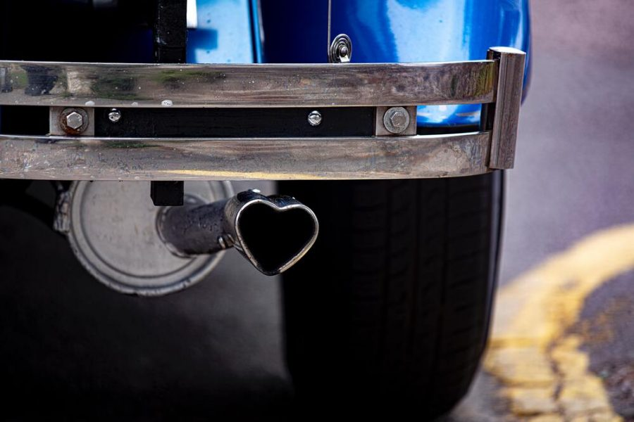 A love-heart exhaust is a sign of a modification