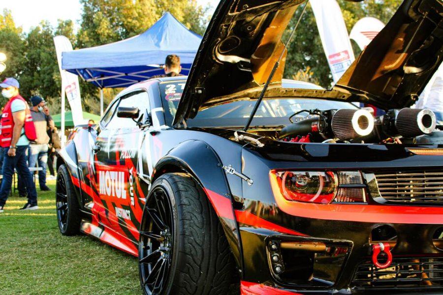 A drift car at a custom show